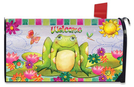 Happy Frog Summer Large / Oversized Magnetic Mailbox Cover