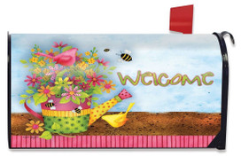 Floral Welcome Spring Large / Oversized Mailbox Cover