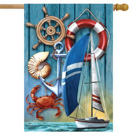 Nautical Adventure Summer House Flag