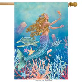 Mermaid Summer House Flag