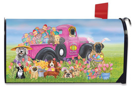 Easter Dogs Holiday Magnetic Mailbox Cover