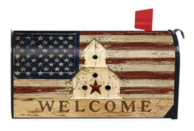 Americana Welcome Large / Oversized Mailbox Cover