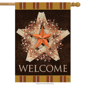 Autumn Barnstar Primitive House Flag