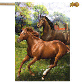 Galloping Horses House Flag