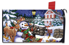 Snowfall Gathering Winter Mailbox Cover