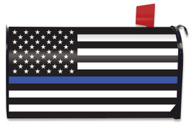 Thin Blue Line Magnetic Mailbox Cover