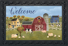 Spring Countryside Welcome Spring Doormat
