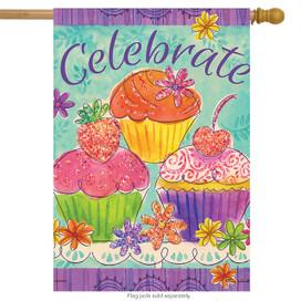 Cupcakes Celebrate House Flag