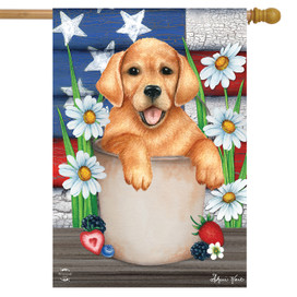 American Lab Patriotic House Flag