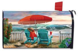 Beach Life Summer Mailbox Cover