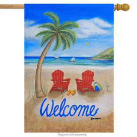 Beach Summer House Flag