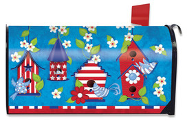 Patriotic Birds Primitive Large / Oversized Mailbox Cover