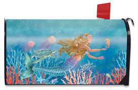 Mermaid Summer Magnetic Mailbox Cover