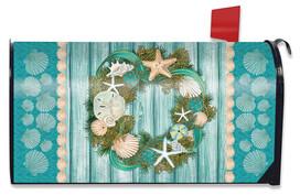 Coastal Wreath Summer Magnetic Mailbox Cover