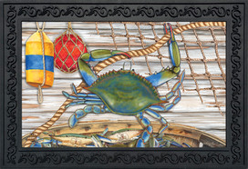 Blue Crab Bushel Summer Doormat