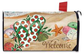 Coastal Christmas Nautical Mailbox Cover
