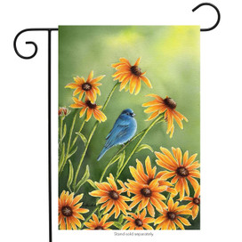 Indigo Summer Blue Bird Garden Flag