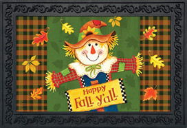 Fall Y'all Scarecrow Primitive Doormat