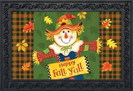 Fall Y'all Scarecrow Primitive Doormat