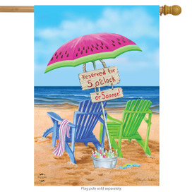 Beach Bum Summer House Flag