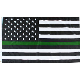 Thin Green Line Military Grommet Flag