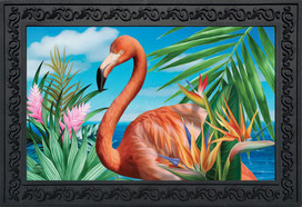 Flamingo Paradise Doormat