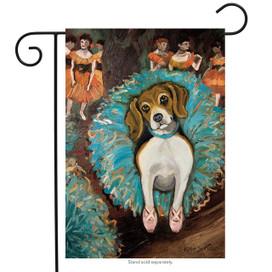 Van Growl Beagle Garden Flag