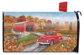 Autumn Bridge Large / Oversized Mailbox Cover