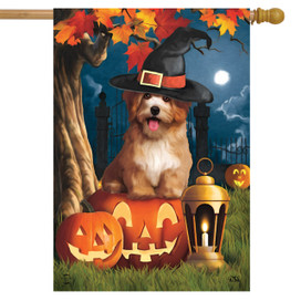 Halloween Dog House Flag