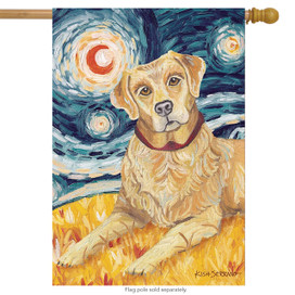 Van Growl Yellow Lab House Flag