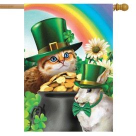 St. Pat's Cats House Flag