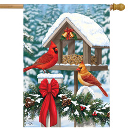 Cardinals Christmas Feast House Flag