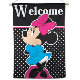 Minnie Mouse Welcome House Flag