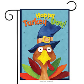 Turkey Day Thanksgiving Garden Flag