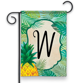 Palms Monogram W Garden Flag