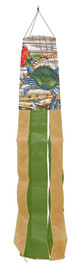Blue Crab Bushell Summer Windsock