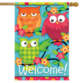Treetop Welcome Spring House Flag