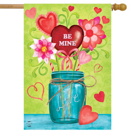 Valentine's Mason Jar House Flag