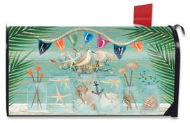 Coastal Mason Jar Summer Mailbox Cover
