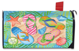 Tropical Flip Flops Summer Large / Oversized Mailbox Cover