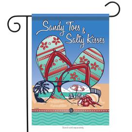 Sandy Toes & Salty Kisses Garden Flag
