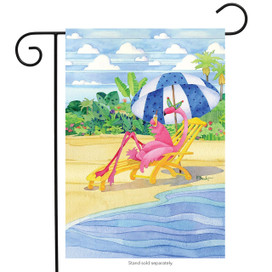 Flamingo Inn Summer Garden Flag