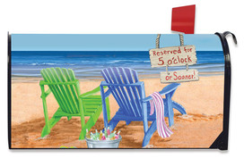Beach Bum Summer Large / Oversized Magnetic Mailbox Cover