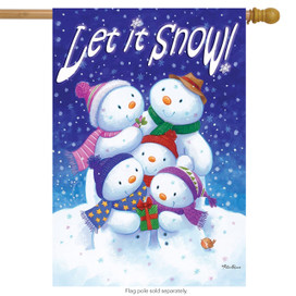 Let it Snow Family House Flag