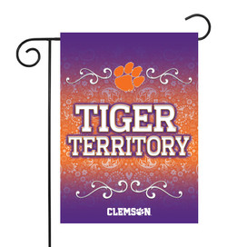 Clemson University Tigers Paisley NCAA Garden Flag