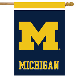 Michigan Wolverines NCAA Licensed House Flag