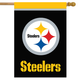 Pittsburgh Steelers NFL House Flag