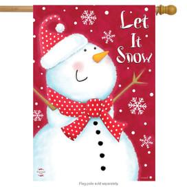 Snow Day Snowman Winter House Flag