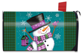 Winter Wonderland Snowman Mailbox Cover