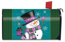 Winter Wonderland Snowman Mailbox Cover